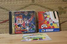 Saturn Bomberman w/2 flyers Sega Saturn SS Japan Very Good Condition!
