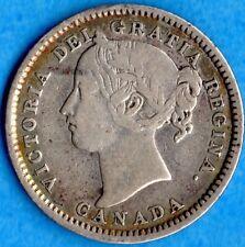 Canada 1898 10 Cents Ten Cent Silver Coin - Fine