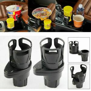 Adjustable Car Dual Cup Holder Sunglasses Phone Organizer Drinking Bottle Holder