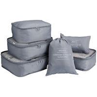 6pcs Travel Set Clothes Luggage Packing Organizer Cube Foldable Suitcase Bags US