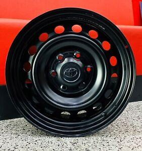 17X7.5 genuine Toyota Hilux Steel Wheels With Caps black