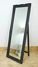 """Isabella Black Shabby Chic Full Length Antique Cheval Mirror 60"""" x 22"""" X Large"""