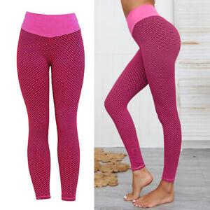 Womens High-Waist Yoga Pants Leggings Slimming Sports Tights Activewear