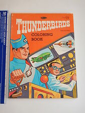 Rare 1968 Thunderbirds Coloring Book Gerry Anderson High Grade Unused