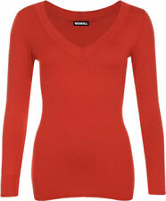 Altri maglie da donna rosse con scollo a v