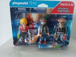 Playmobil Banditi 3 Figures Citt Life New! Ref.70670