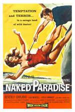 1957 NAKED PARADISE VINTAGE MOVIE POSTER PRINT 54x36 BIG