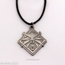 The Witcher Wild Hunt Iii 3 Wolf Medallion Head Chain Pendant Necklace Of Geralt