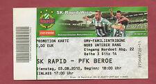 Orig.Ticket   Europa League  10/11  SK RAPID WIEN - BEROE STARA SAGORA !! SELTEN
