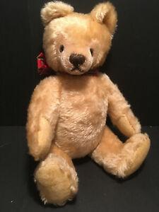 "Vintage 1950's STEIFF Blonde Mohair jointed TEDDY BEAR 13"""