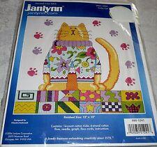 "Janlynn Counted Cross Stitch Kit FUNKY CAT 12"" x 12"""