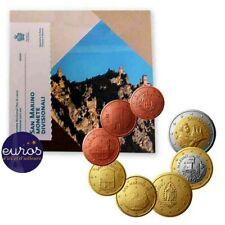Set BU SAINT MARIN 2020 - Série 1 cent à 2 euros (8 pièces) - Brillant Universel