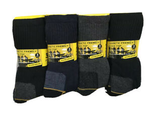 Men's Diabetic Work Socks 6 Pairs Pack Soft Top Heavy Duty comfortable and warm
