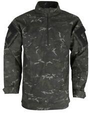 UBACS Military Style Full Body L/S Shirt Airsoft Paintball Cadet  BTP Black