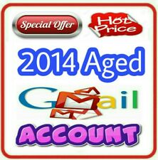 Old Aged Gmail Google Accounts created on 2014