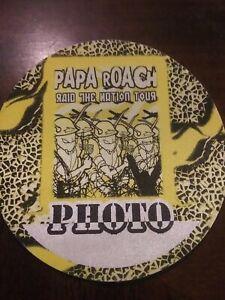 Papa Roach 2001 Raid the Nation Tour Backstage Pass Photo Concert