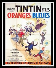 TINTIN THE BLUE ORANGES 4x6 ft Vintage French Grande Original Movie Poster 1964