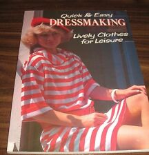 Quick and Easy Dressmaking by Di Reeds (Paperback, 1986)