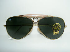 New RAY BAN Sunglasses AVIATOR SHOOTER Gold RB 3138 001 Glass G-15 Lenses 62mm