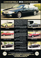 2000 NCE Conversion Cadillac Seville - Classic Vintage Advertisement Ad D09