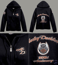 HARLEY DAVIDSON LADIES 105TH  L/S  HOODIE SHIRT (S)