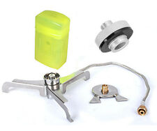 1 Set BRS Multi-uso Estufa Quemador Gas Adaptador Para Tanque De Cilindro Gas largo/plano puede