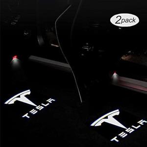 For Tesla Model 3/Y/S/X Accessories LED Puddle Lights, Car Logo Projector, Door