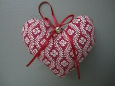 Pierre Deux Christmas Valentines Heart Ornaments Red Yellow French Country Toile