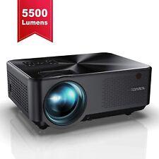 Full HD 1080P 5500 Lumens 200'' Dsply Portable Home Cinema Movie Video Projector