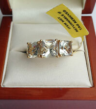 Yellow Gold Plated Three-Stone Fine Rings