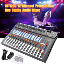 CT-120S 12 Channel Professional USB Live Studio Audio Mixer Power Mixing Console
