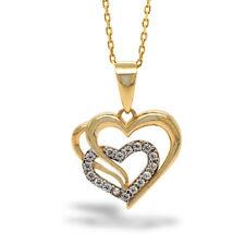 14K Herz Anhänger Damen 42cm Halskette 585 Gelbgold ideale Muttertagsgesche