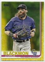 2019 Topps Series 1 Charlie Blackmon Walgreens Exclusive Yellow Parallel #16