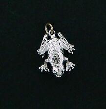 Frog Charm #1 / Pendant in Sterling Vintage 3/D Charm