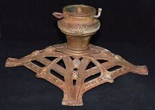 ANTIQUE GERMANY CAST IRON FEATHER TREE CHRISTMAS TREE STAND PINE CONES