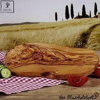 2.Wahl Servierbrett aus Olivenholz Schneidebrett Frühstücksbrett Holz ca. 40 cm