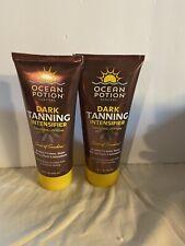 2 Pack-Ocean Potion Dark Tanning Intensifier Lotion Scent Of Sunshine 6.8oz Each