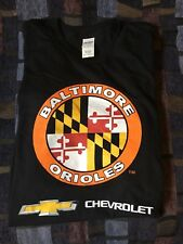 Baltimore Orioles Maryland Flag Chevrolet Sponsored T Shirt XL New