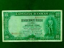 LATVIA 1938, 25 Lats Collectable Banknote.Fine