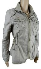 NEXT Petite Taglia 8 Donna Cotone Cargo giacca, Cachi ottime condizioni