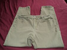 Style & Co. Denim Petite Womens Straight Leg Jeans Olive Size 14P Tummy Control