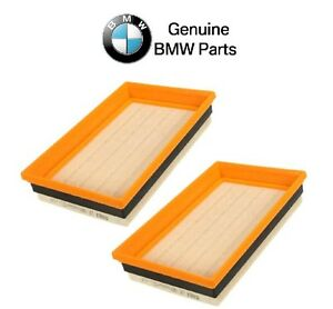 For BMW E38 750iL 1995-2001 Pair Set of 2 Air Filters OEM HENGST E409L