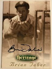 1995 FUTERA HERITAGE CRICKET COLLECTION CARD N0 58/60 SIGNED BRIAN TABER