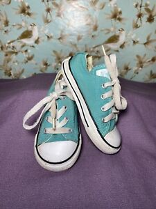 Size 7 BABY Shoe CONVERSE ALL STAR Blue Canvas Chuck Taylor