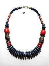 Tribal Necklace Resin Stone Beaded Handmade Tibetan Banjara India Ethnic Jewelry