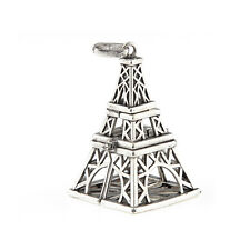 Eiffel Tower Locket Pendant Aromatic Essential Oil Diffuser DIY Necklace Jewelr