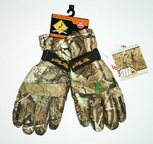 HOT SHOT Camouflage Hunting Gloves REALTREE Camo G Series Windstopper Men NWT XL
