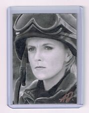 2016 ACEO Sketch Card AMANDA TAPPING Samantha Carter STARGATE 1/1