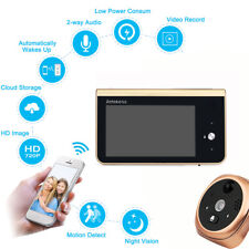 2.4GHz Wifi Smart Peephole Video Doorbell 720P security Camera  Real-time Video