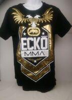 Ecko Unltd MMA Graphic TShirt Black White Gold Colored Tee Mens Small